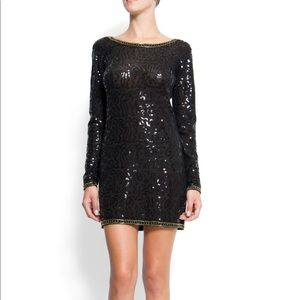 MANGO sequin dress with open back ⭐️